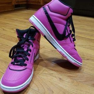 4da024beafb25e Prestige Pink+Black Nike High Top Sneakers Women s